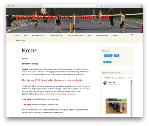Twenty Thirteen free WordPress theme - westfieldindoortennis.com