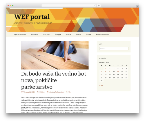 Twenty Thirteen WordPress theme - wef2012.si