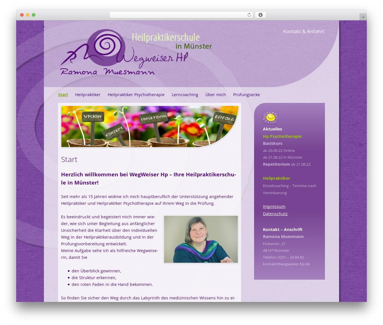 Twenty Twelve theme WordPress - wegweiser-hp.de