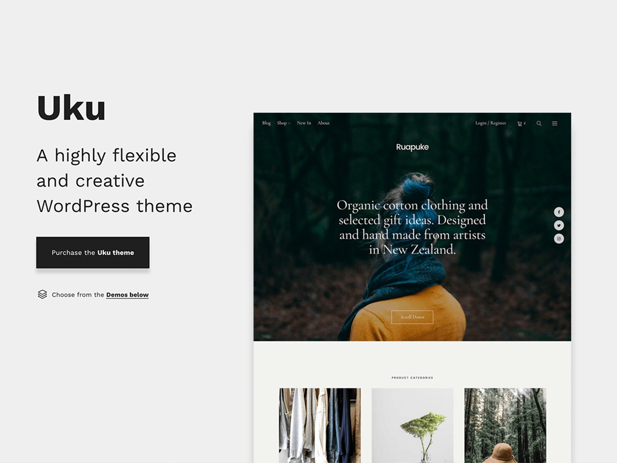 Uku WordPress news template