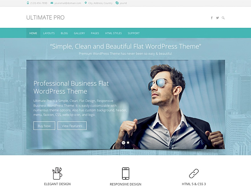 Ultimate Pro company WordPress theme