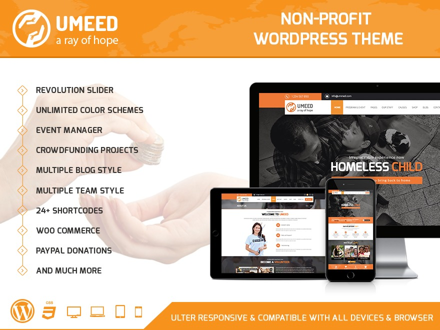 Umeed Wordpress Theme WordPress page template