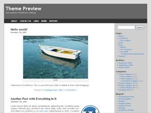 Untheme two-column WordPress theme