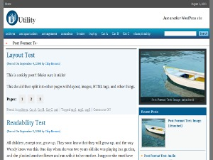 utility WordPress gallery theme
