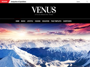 Venus WordPress news theme