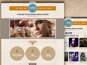 Vintage Immersed personal blog WordPress theme