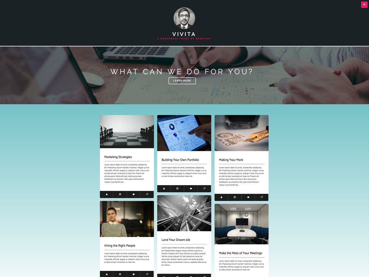 Vivita best free WordPress theme
