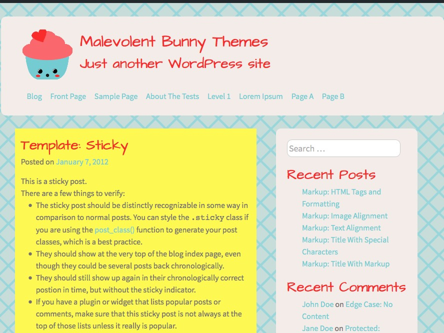 Whimsical Love WordPress template free