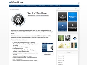 WhiteHouse template WordPress