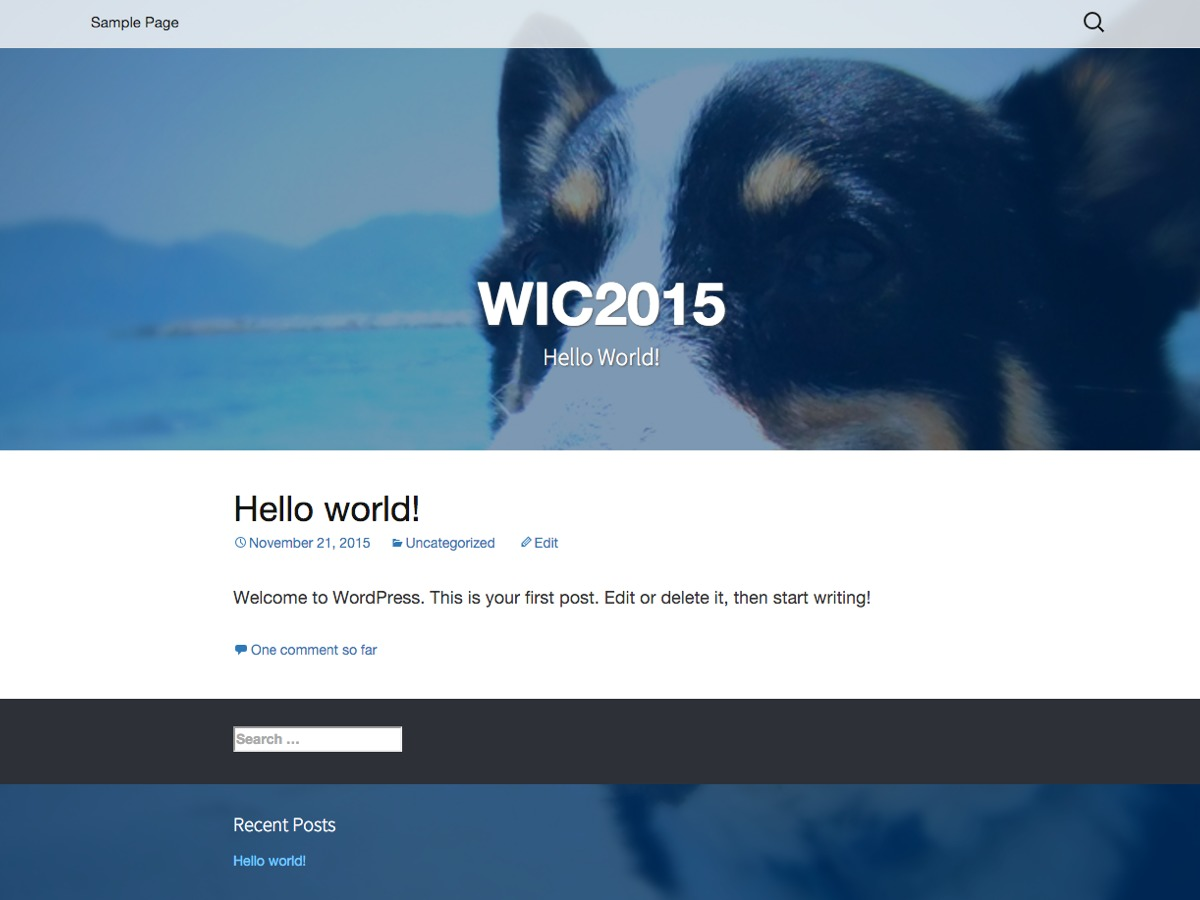 WIC2015 best free WordPress theme