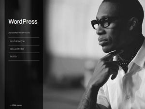 Widescreen WordPress page template