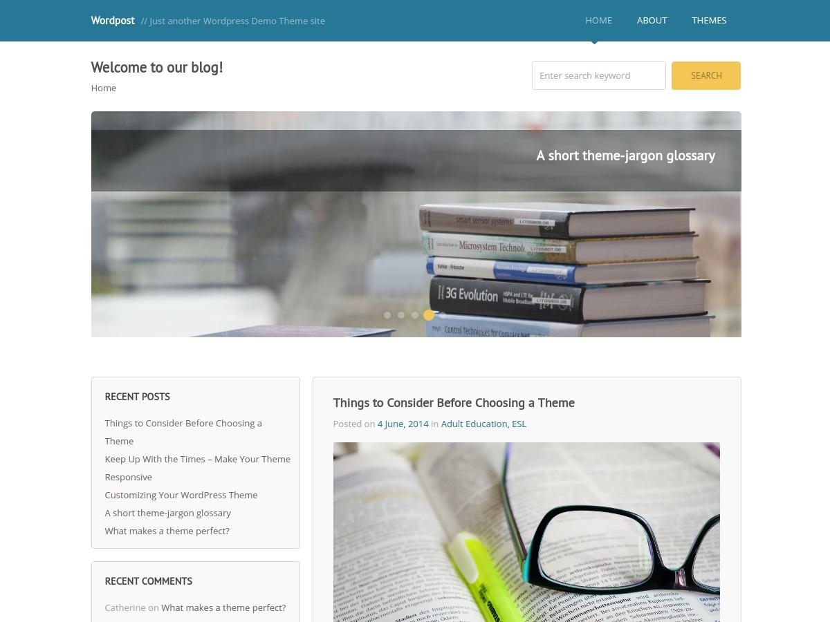 Wordpost WordPress theme download