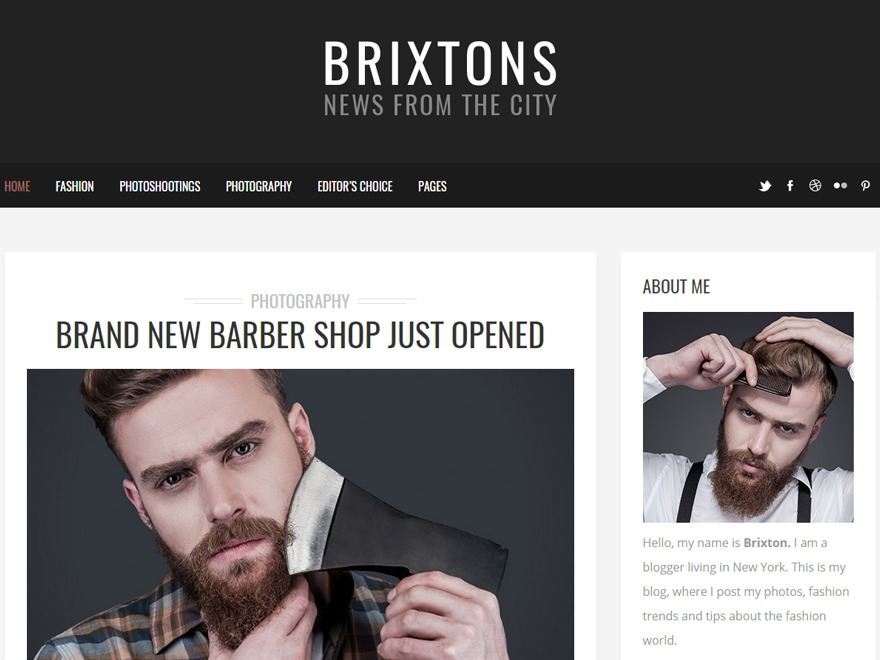 WordPress template Brixton Child
