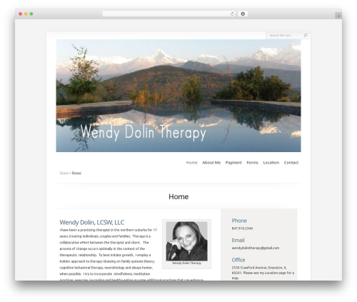 WordPress template Chameleon - wendydolintherapy.com