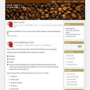 WordPress template CoffeeSpot