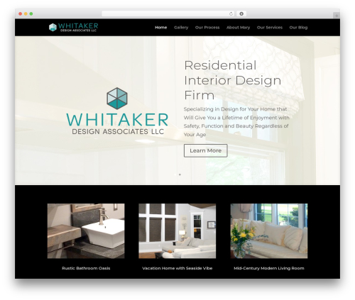 WordPress template Divi - whitakerdesignassociates.com
