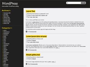 WordPress template Drochilli