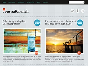 WordPress template JournalCrunch
