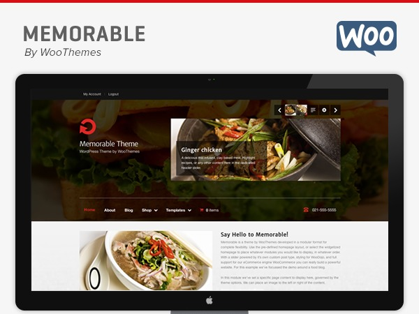 WordPress template Memorable