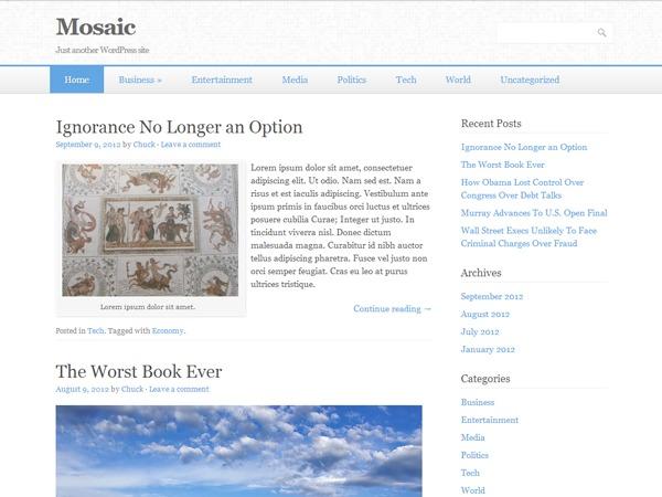 WordPress template Mosaic