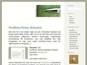 WordPress template Relaxation