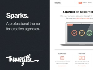 WordPress template Sparks