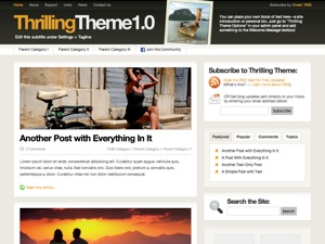 WordPress template ThrillingTheme