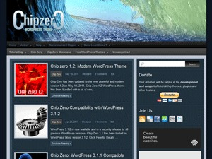 WordPress theme Chip Zero