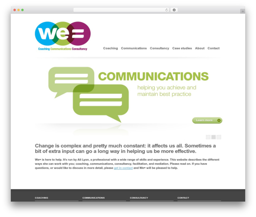 WordPress theme Clearly Modern - we-equals.co.uk