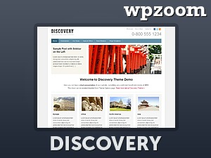 WordPress theme Discovery Theme