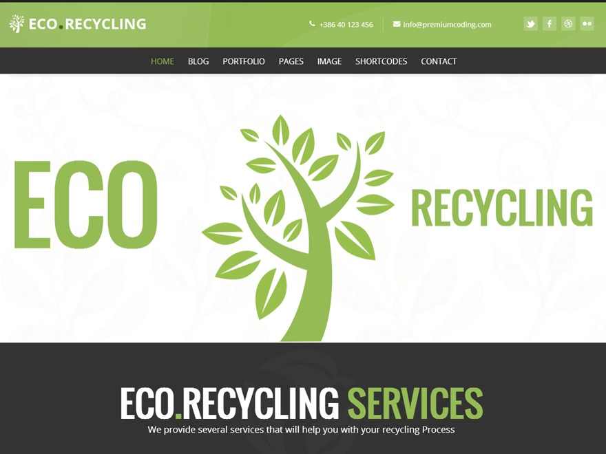 WordPress theme Ecorecycle Child