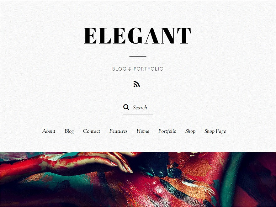 WordPress theme Elegant