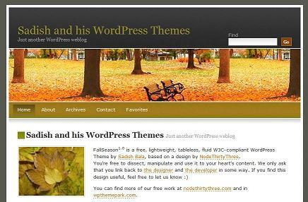 WordPress theme FallSeason