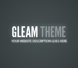 WordPress theme Gleam