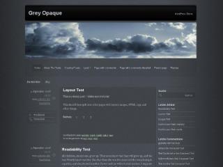 WordPress theme Grey Opaque