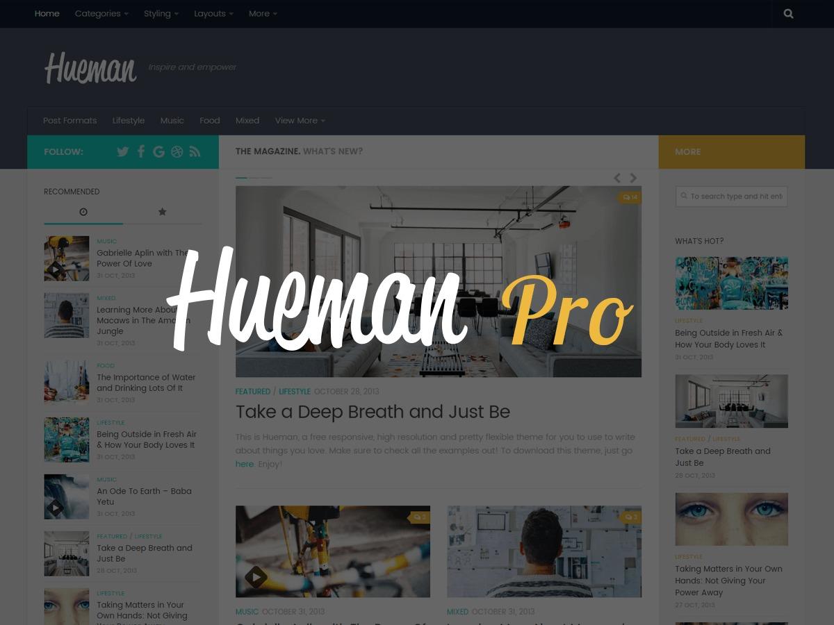 WordPress theme Hueman Pro Child