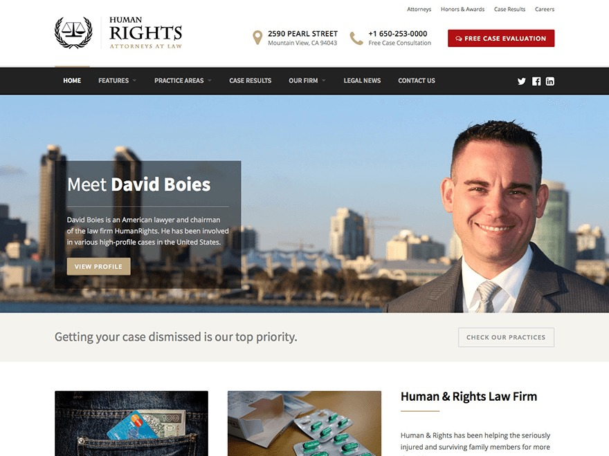 WordPress theme HumanRights