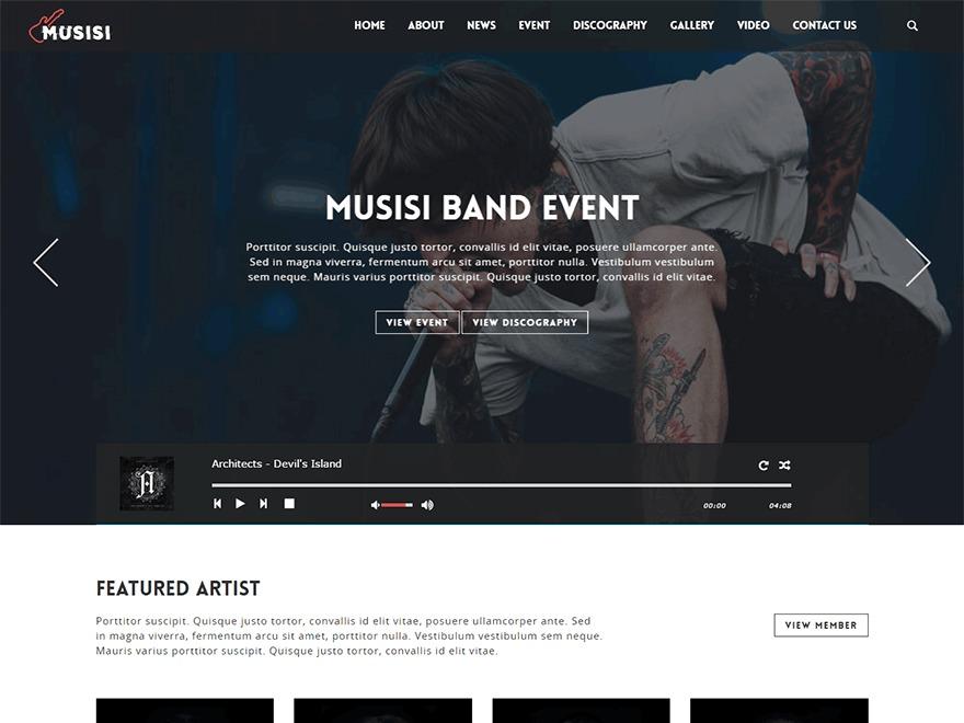 WordPress theme Musisi