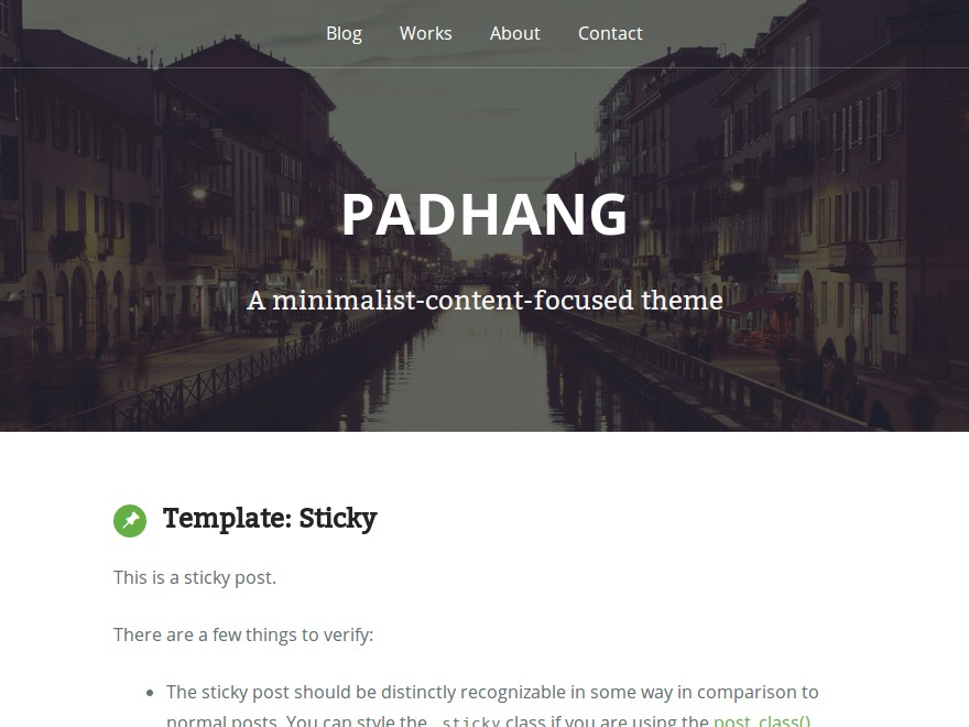 WordPress theme Padhang