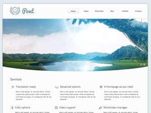 WordPress theme Pont