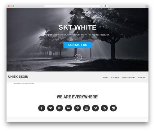 WordPress theme SKT White - wp.skydreams.com/wp-signup.php?new=vleuterweideopglasvezel.nl