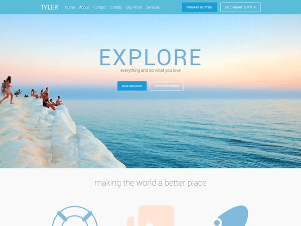 WordPress theme TESSERACT