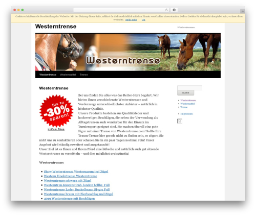 WordPress theme Twenty Ten - westerntrense.com