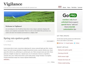 WordPress theme Vigilance