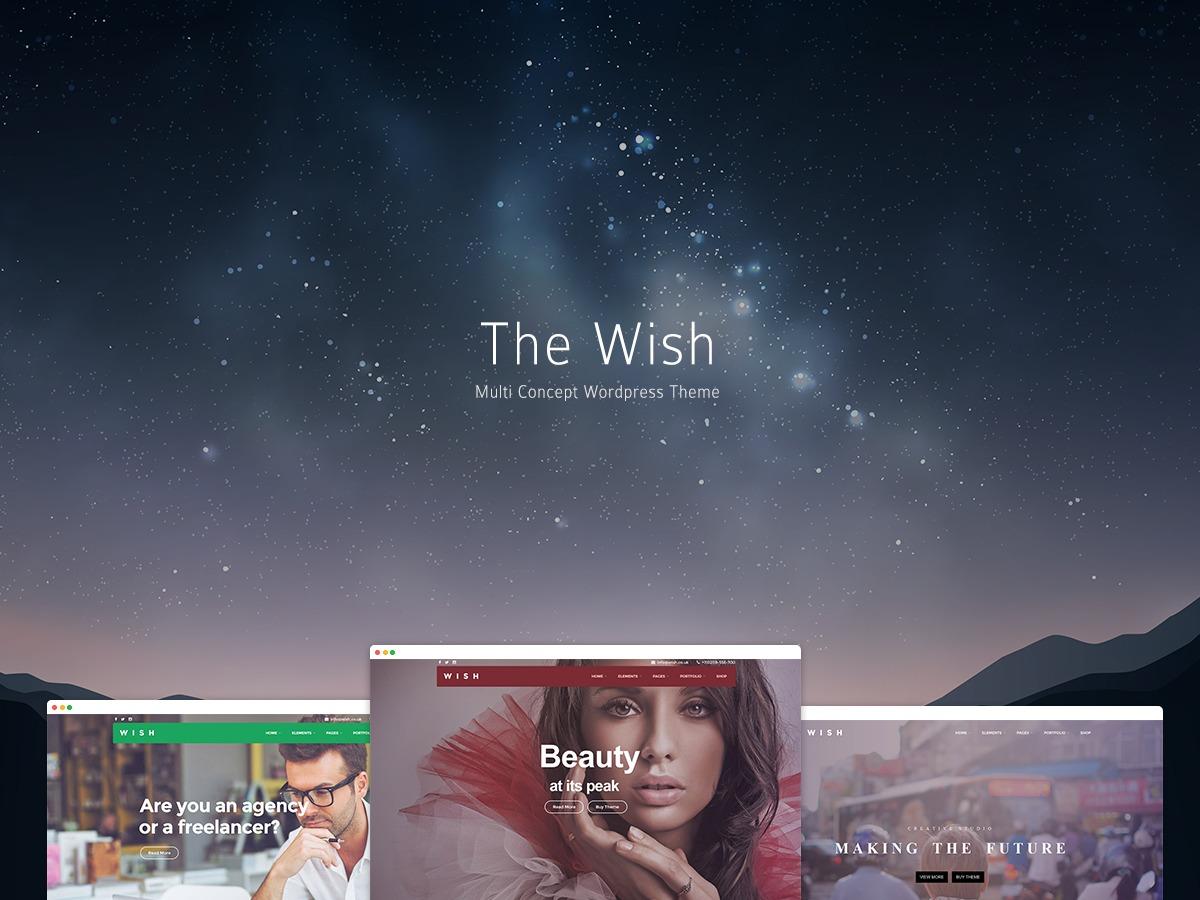 WordPress theme Wish