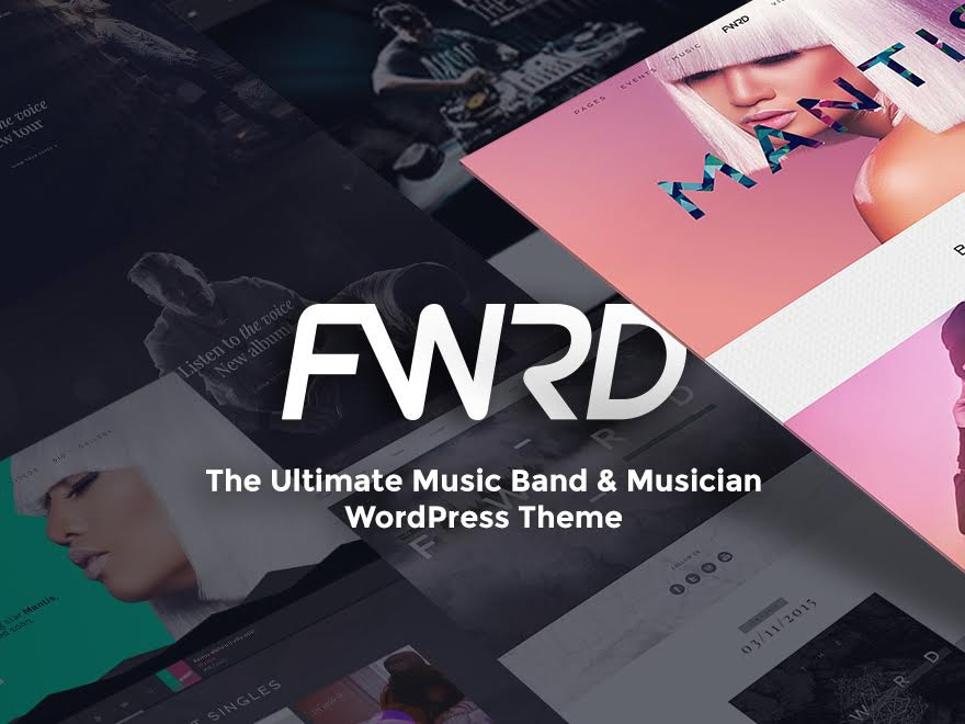 WordPress website template FWRD