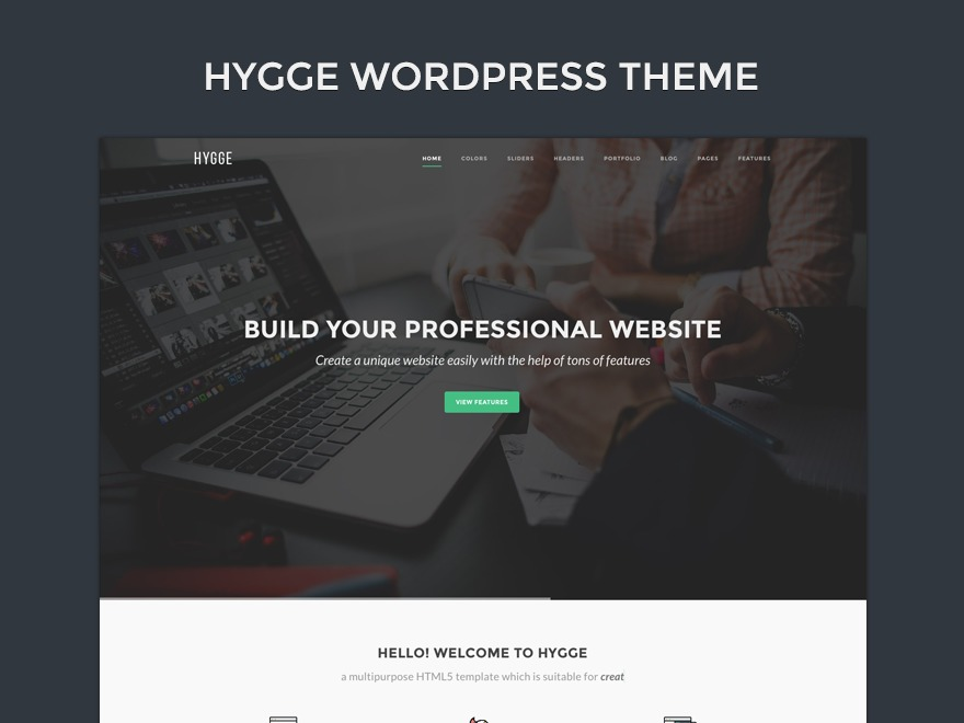 WordPress website template Hygge