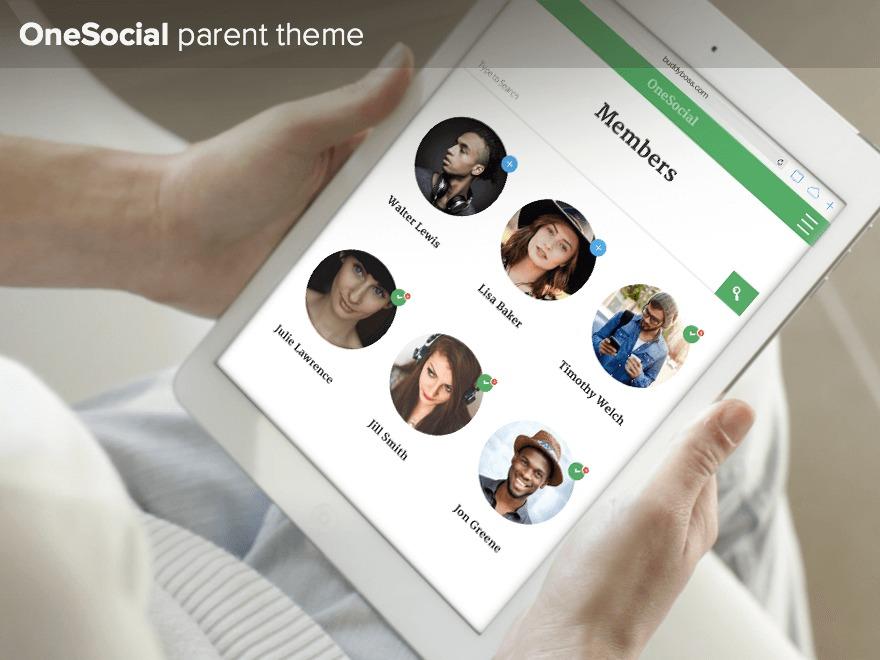 WordPress website template OneSocial