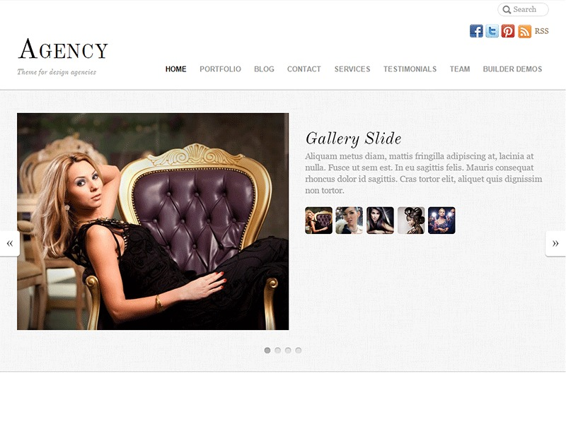 WordPress website template Themify Agency