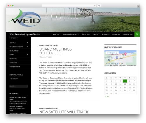 WordPress website template Twenty Fourteen - westextension.com